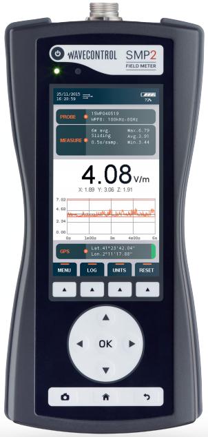 SMP2 hordozható térerősségmérő