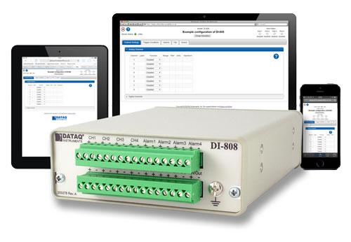 DI-808 tip. internet alapú feszültség és hőmérséklet adatgyűjtő
